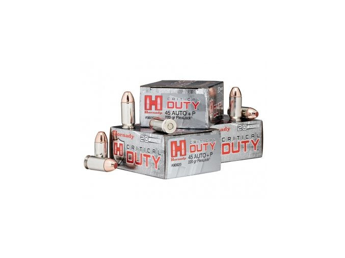 naboj kulovy hornady critical duty 45 acp p 220gr flexlock