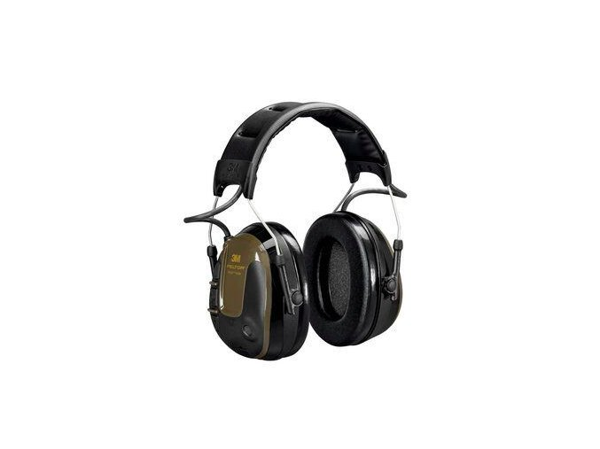 Aktivní sluchátka 3M Peltor ProTac Hunter Headset, hlavová páska, zelené