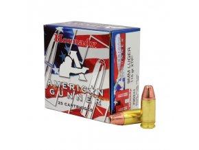 naboj kulovy hornady american gunner 9mm luger 115gr xtp