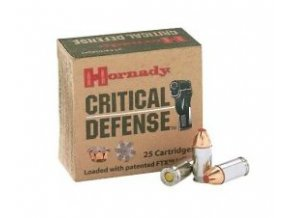 Hornady, Critical Defense, 9mm Luger, 115GR, FTX CD