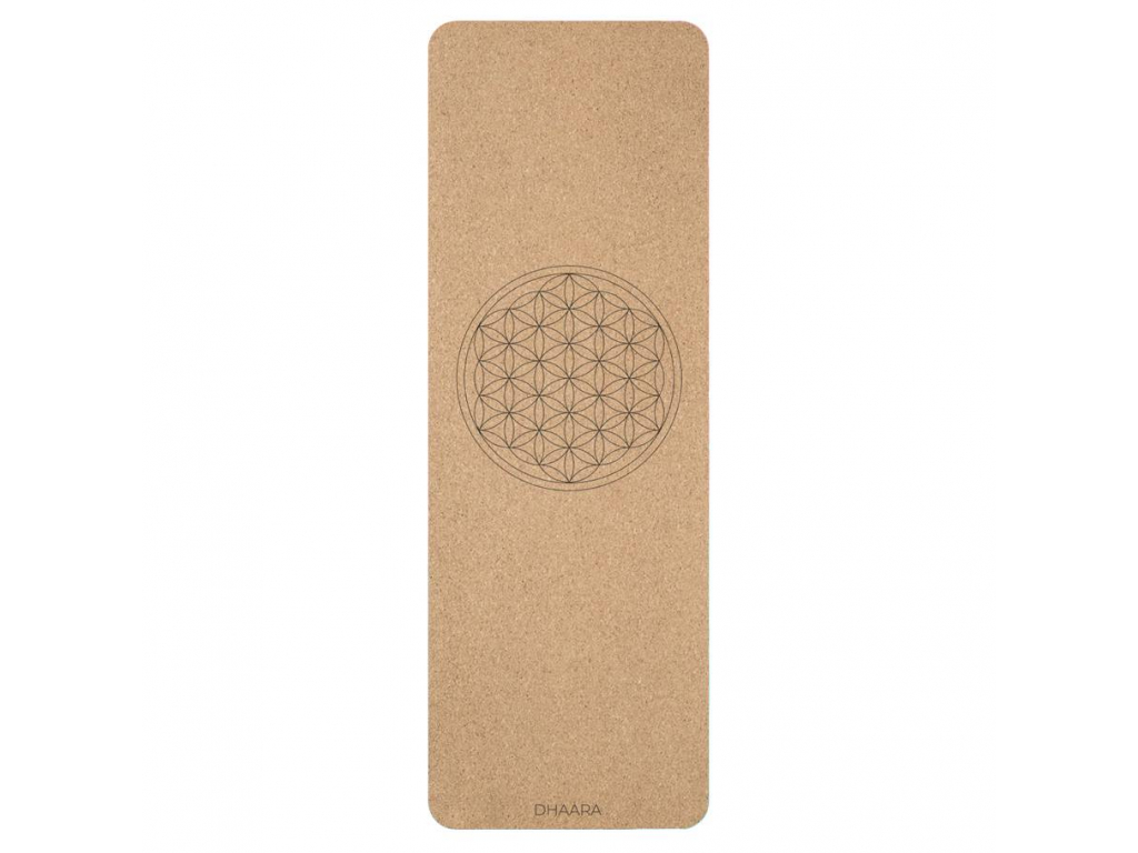 Jogamatka Dhaara: Sacred Geometry. Korková podložka na jógu