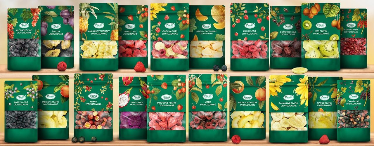 Křupavé, barevné a zdravé, to je naše lyofilizované ovoce