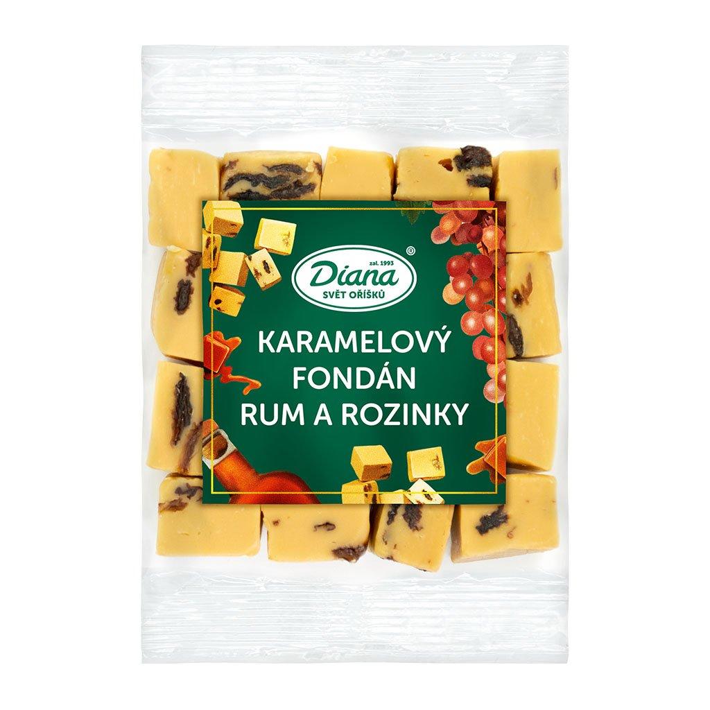 karamelový fondán rum a rozinky 100 g diana company
