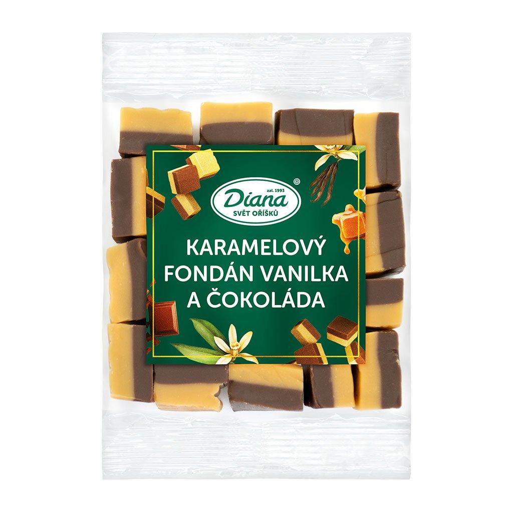 karamelový fondán vanilka a čokoláda 100 g diana company
