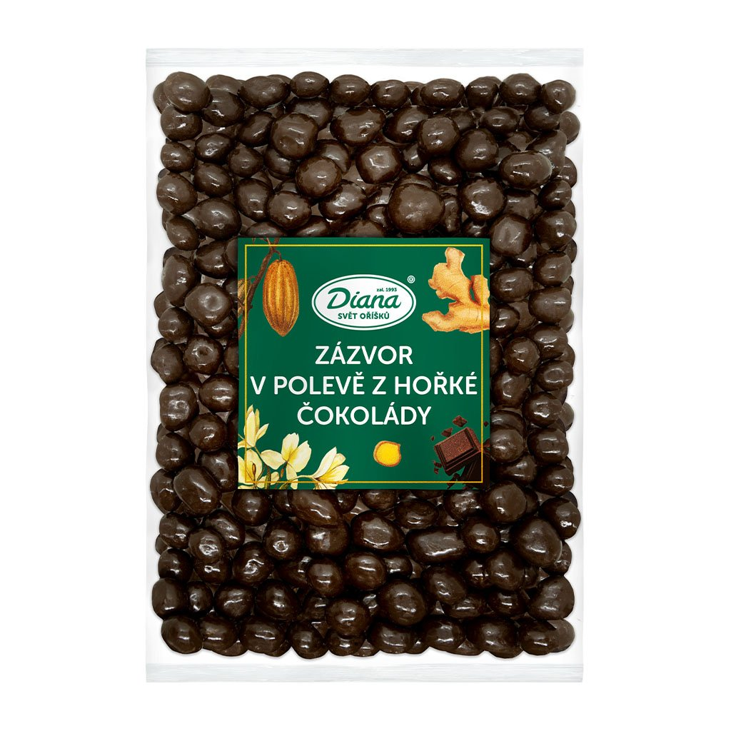 Zázvor v polevě z hořké čokolády 1kg