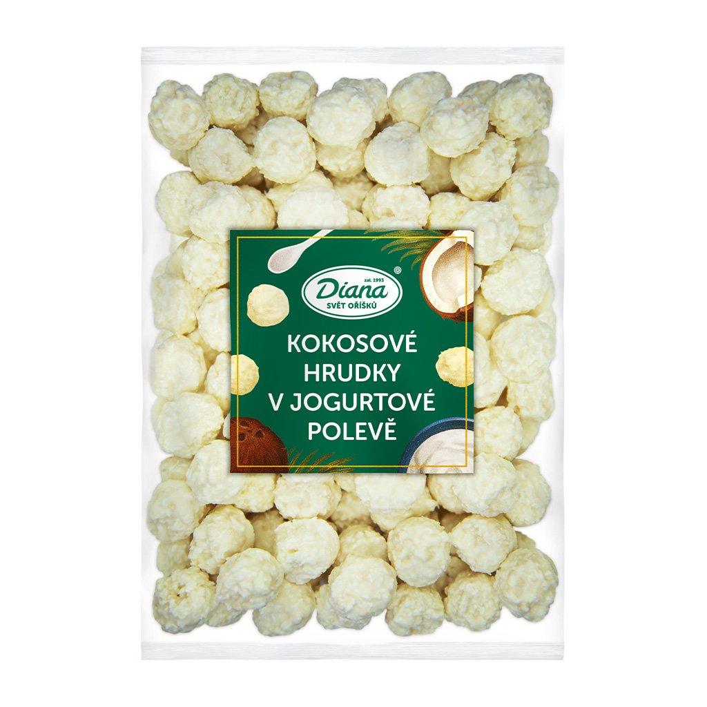 Kokosové hrudky v jogurtové polevě