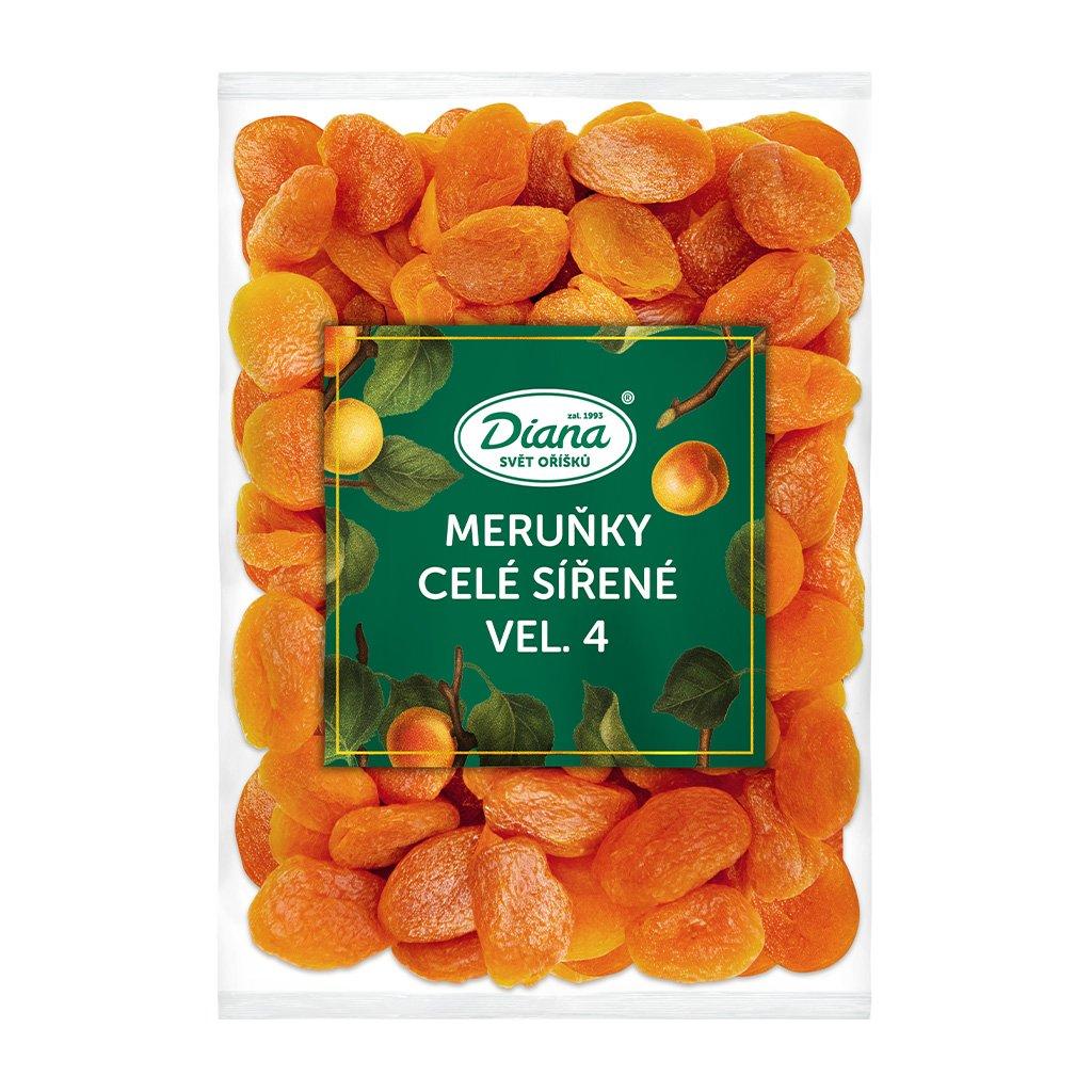 Meruňky celé sířené vel. 4