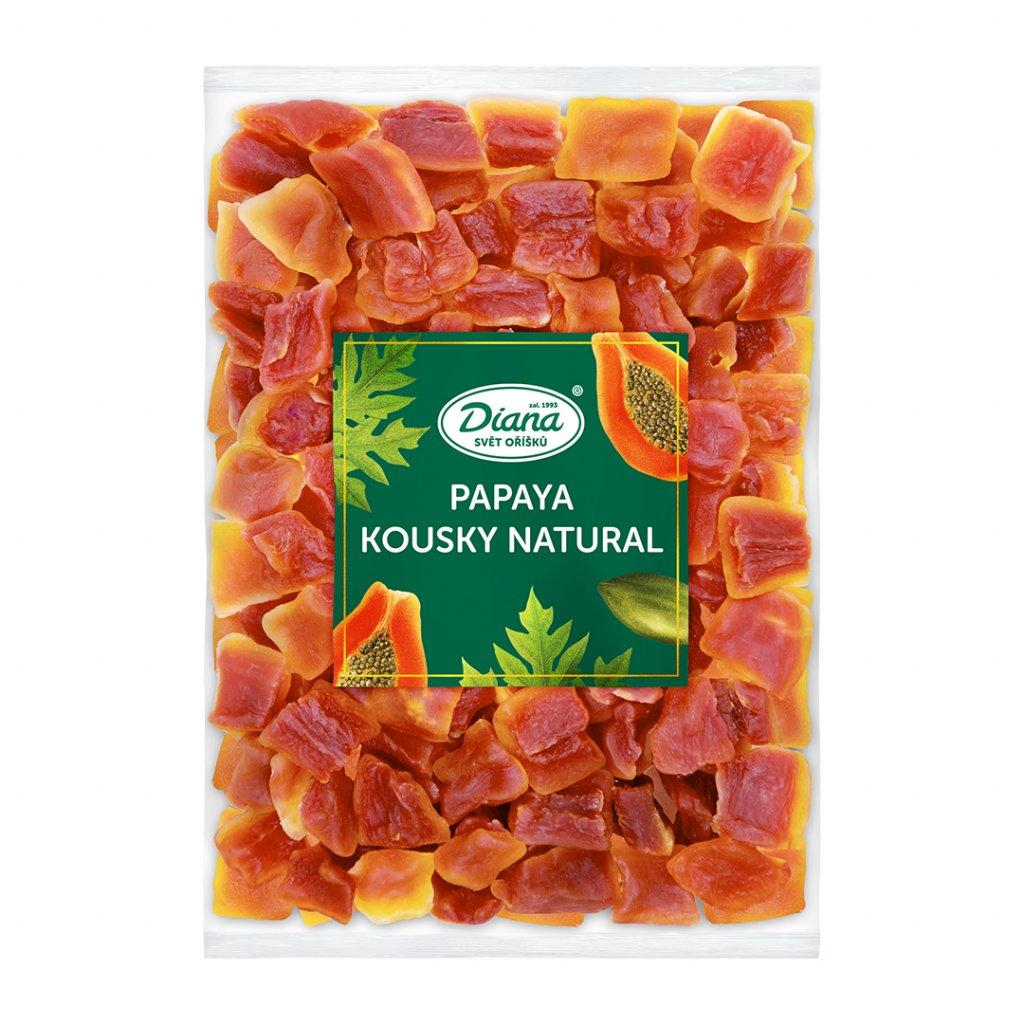 Papaya kousky natural