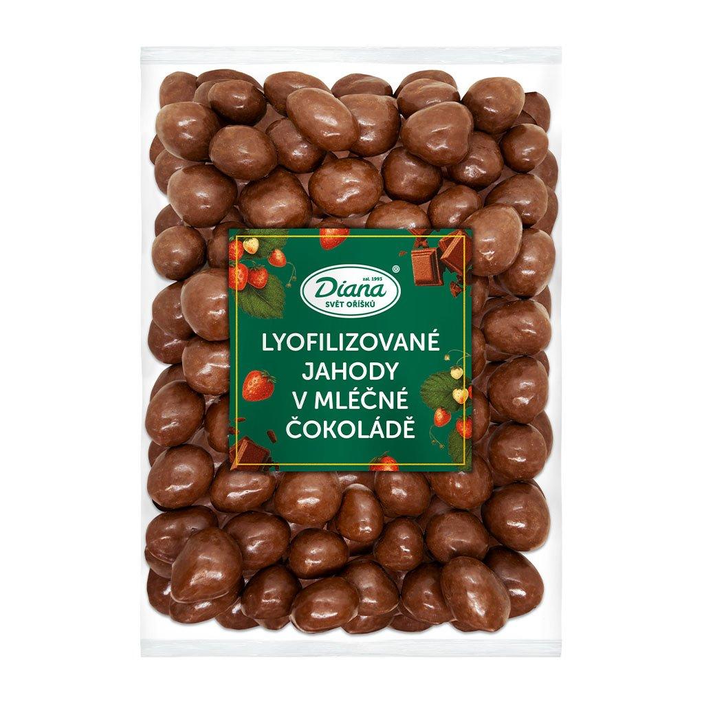jahody mrazem sušené v mléčné čokoládě