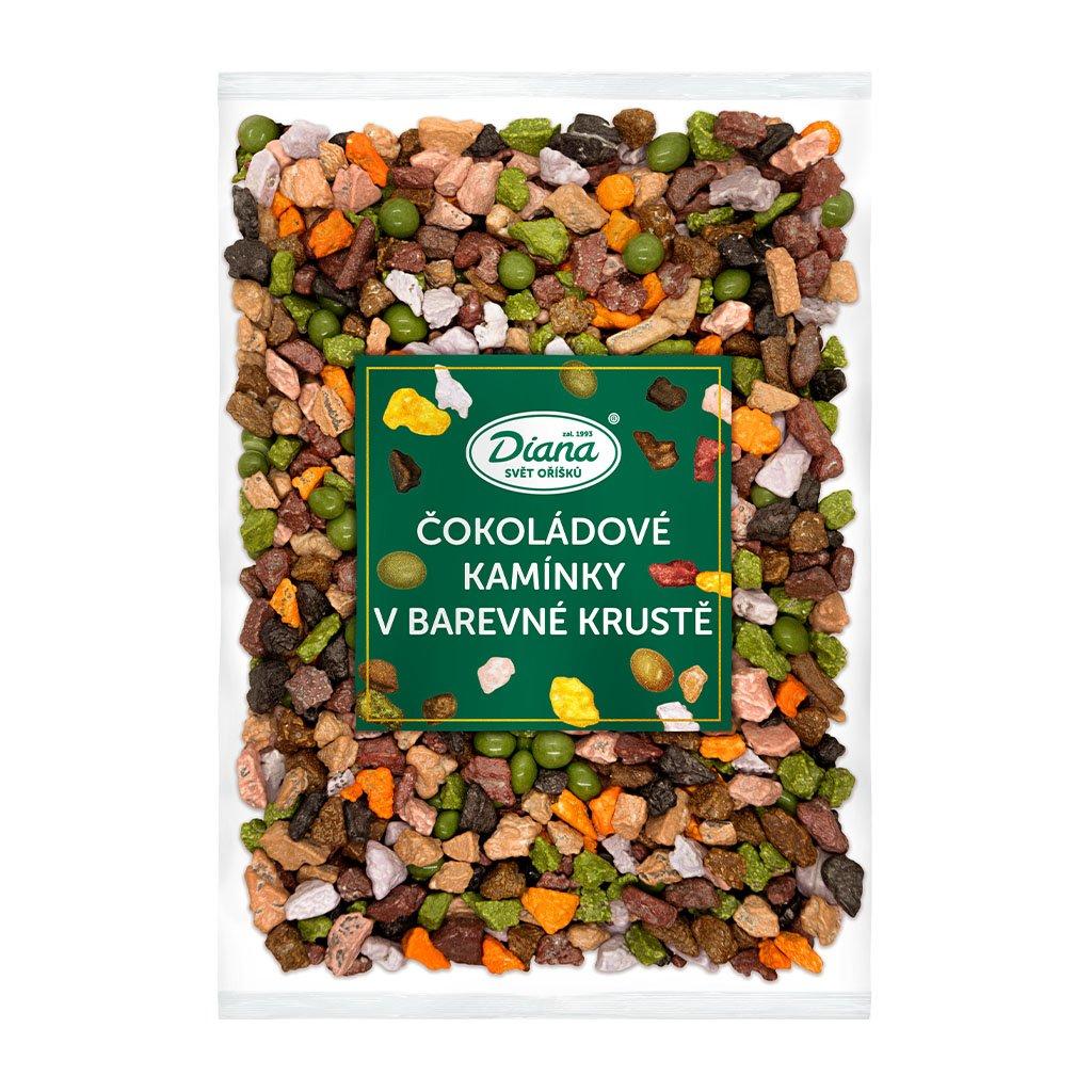 Čokoládové kamínky v barevné krustě