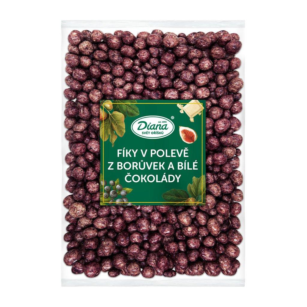Fíky v polevě z borůvek a bílé čokolády 1kg