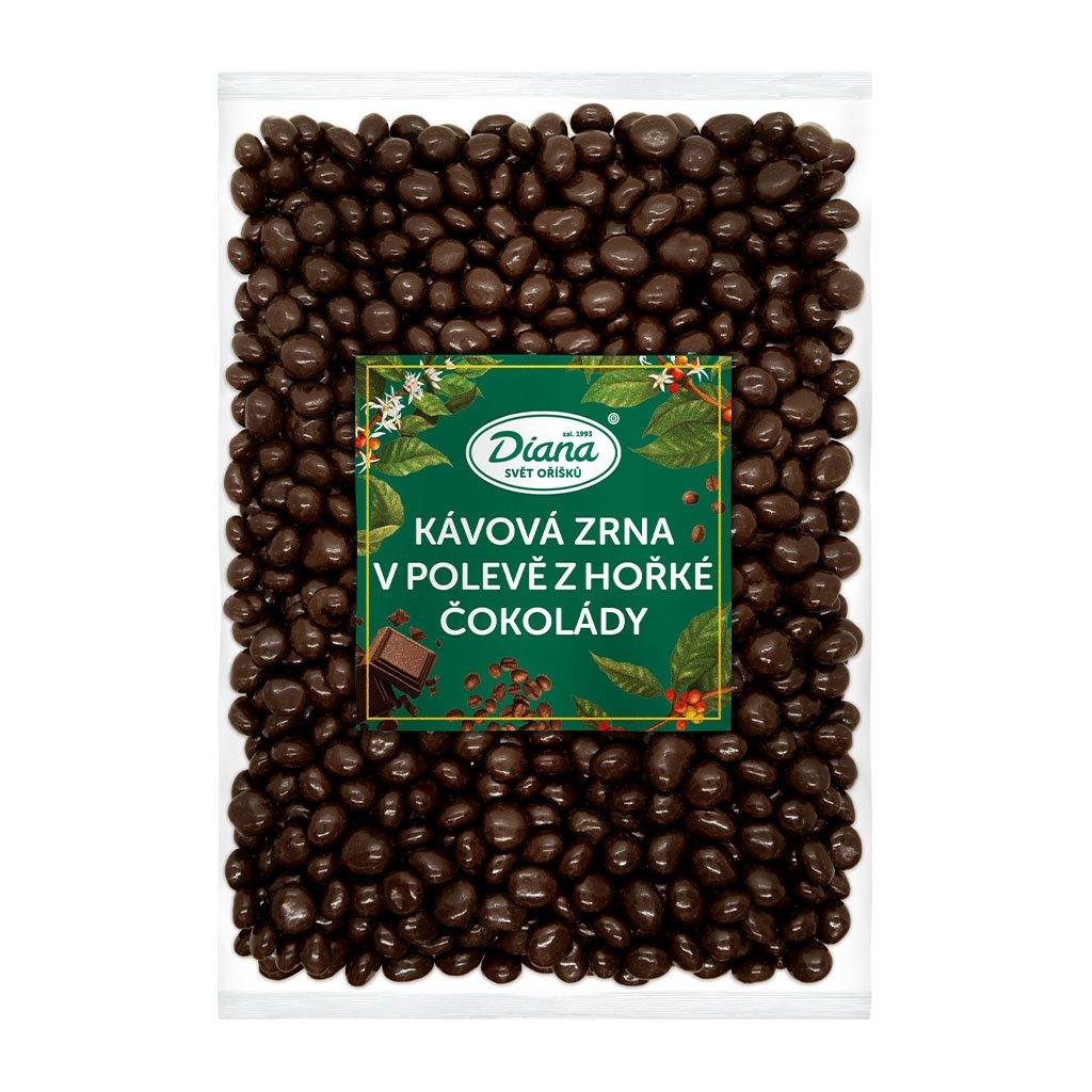 Kávová zrna v polevě z hořké čokolády
