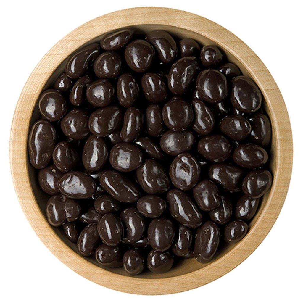 Rozinky v rumu v polevě z hořké čokolády