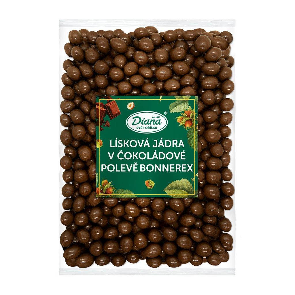 Lísková jádra v čokoládové polevě Bonnerex