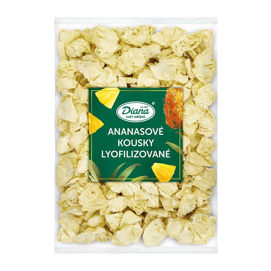 Ananasové kousky lyofilizované