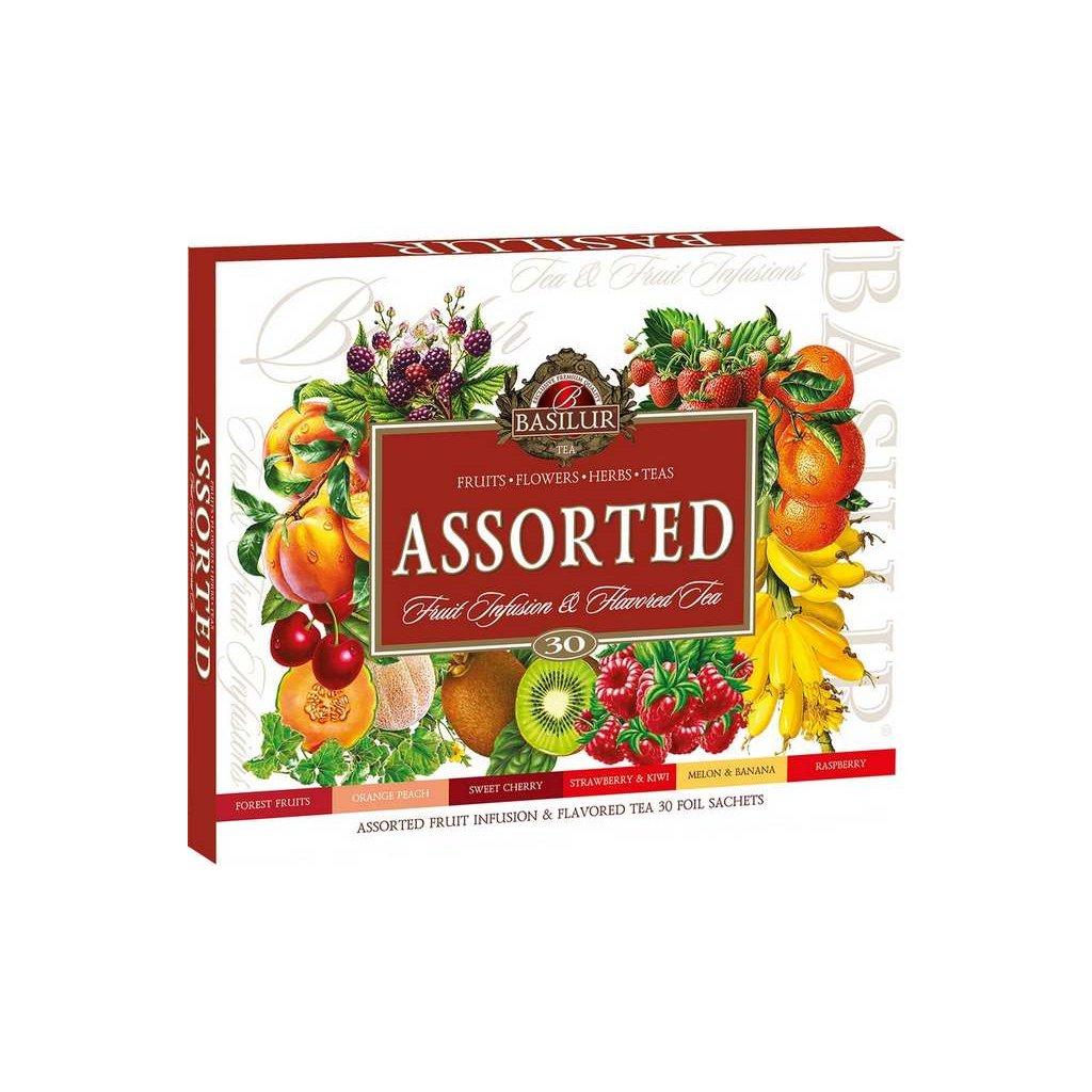 BASILUR Assorted Fruit & Flavoured Tea přebal 30 gastro sáčků