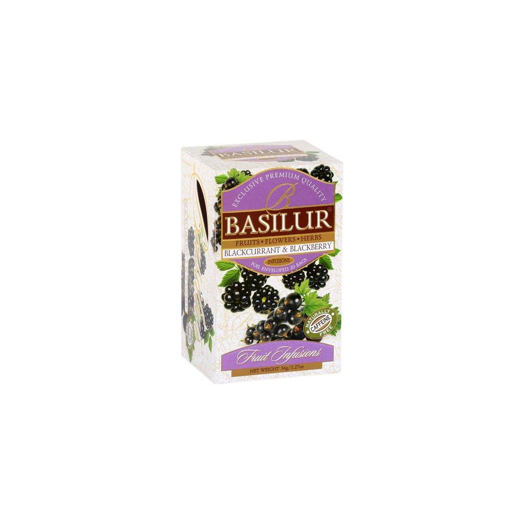 BASILUR Fruit Blackcurrant & Blackberry přebal 25x1,8g