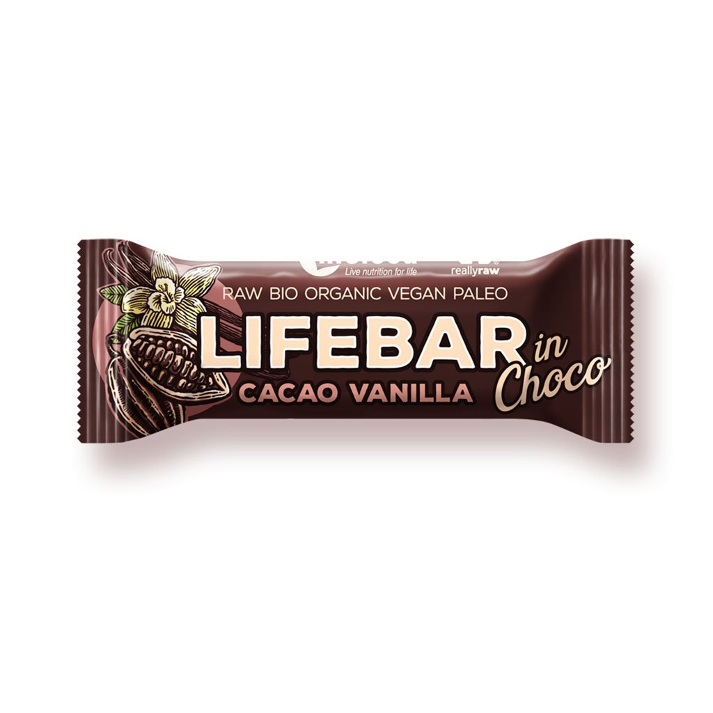 Lifefood LIFEBAR INCHOCO BIO RAW s kakaovými boby a vanilkou 40g