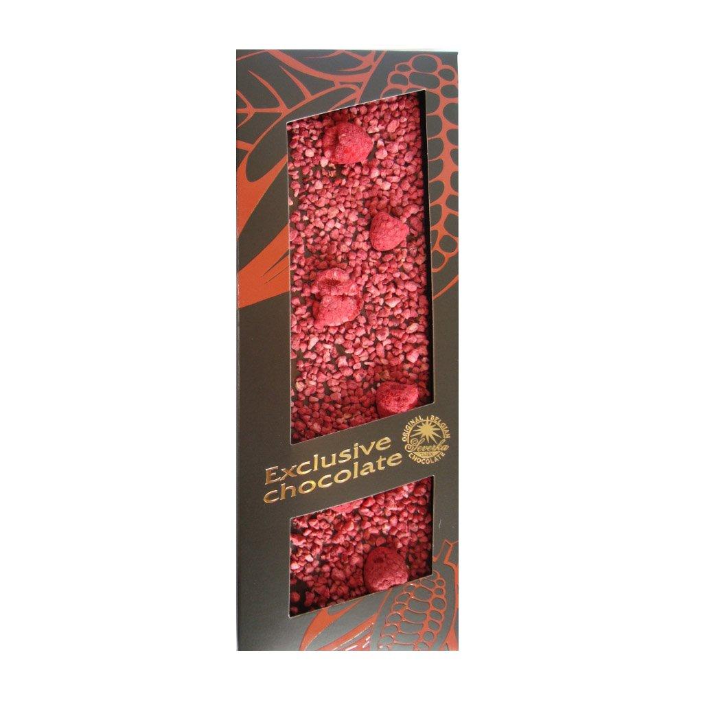 T severka Tabulková čokoláda s malinami hořká 120g