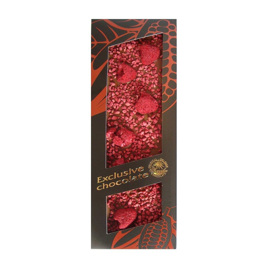 T severka Tabulková čokoláda s malinami mléčná 120g