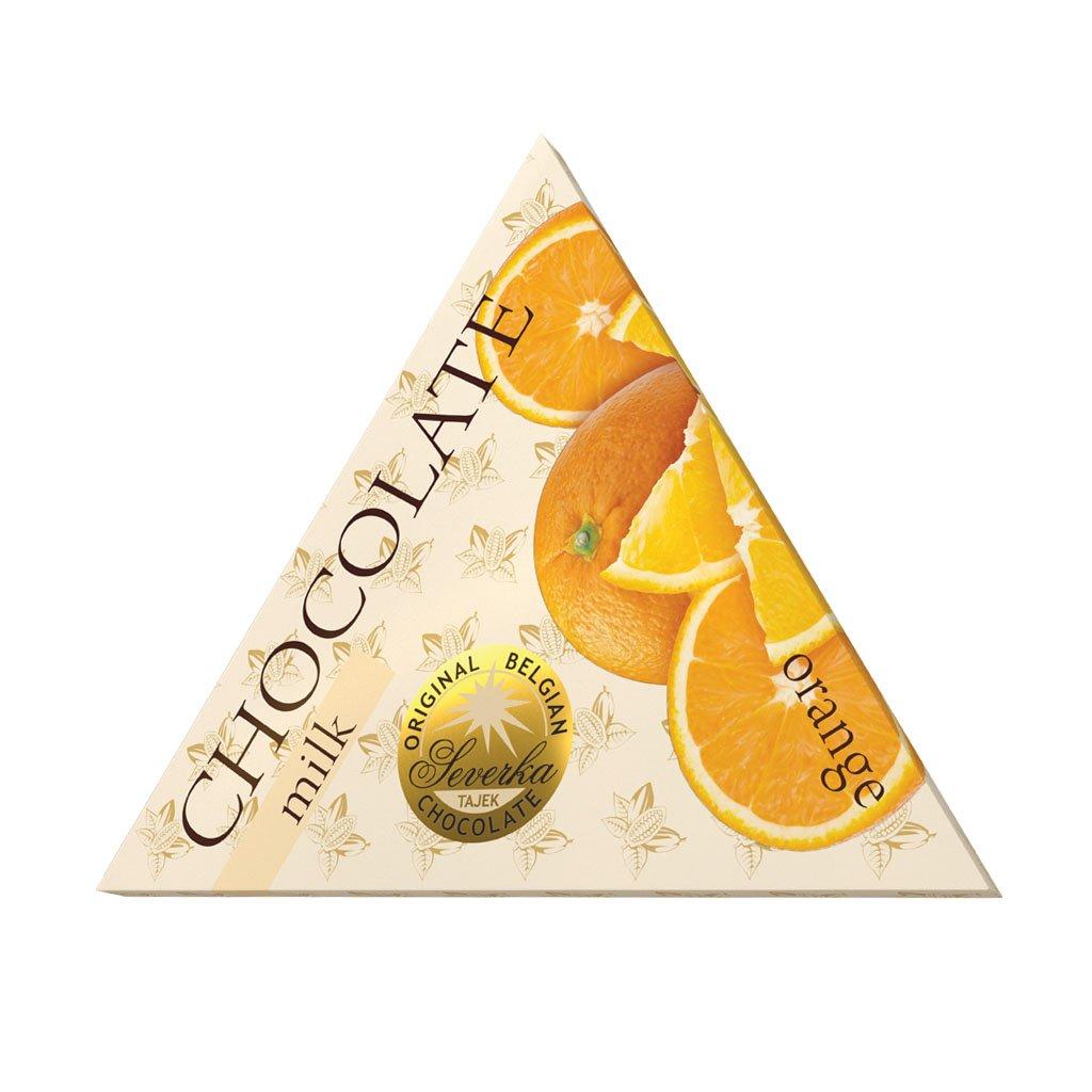 T severka trojuhelníčky mléčné s pomerančem 50g