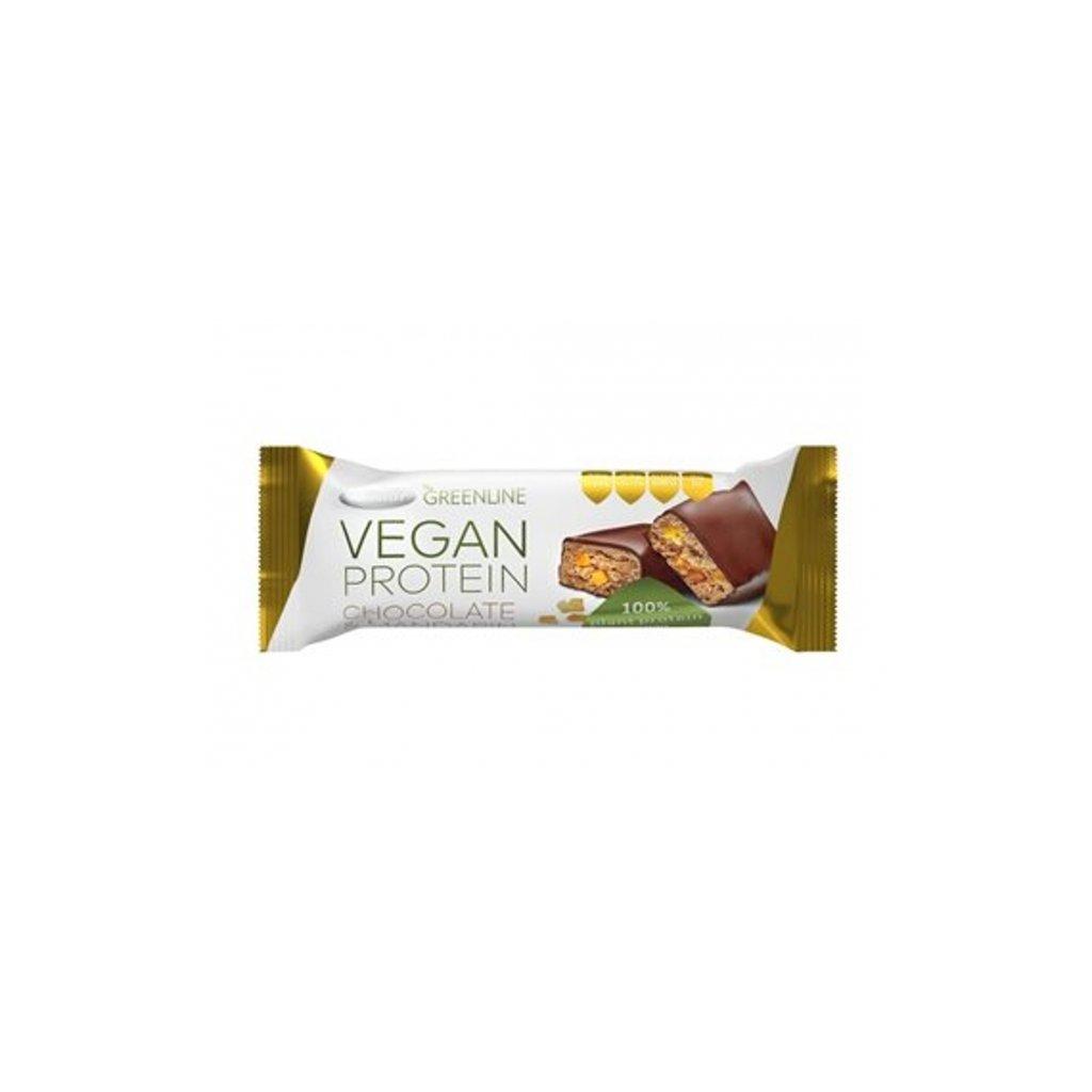 Green line vegan proteinová tyčinka čokoláda a mandarinka Tekmar