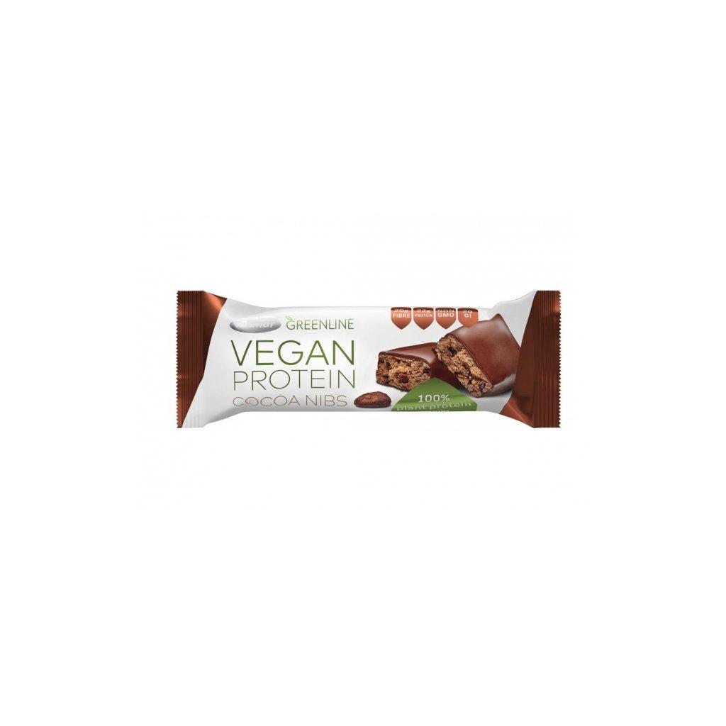 Green line vegan proteinová tyčinka kakaové boby Tekmar