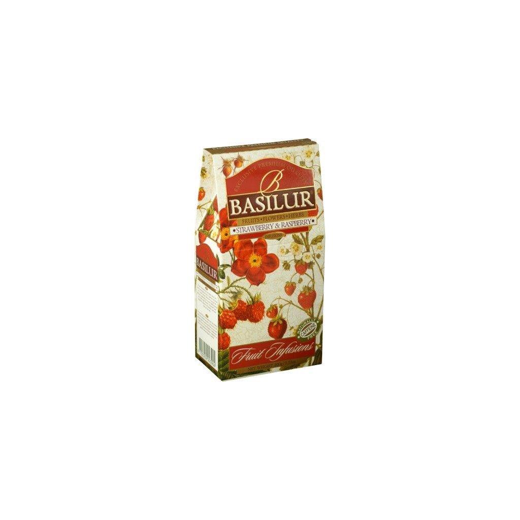 BASILUR Fruit Strawberry & Raspberry papír 100g