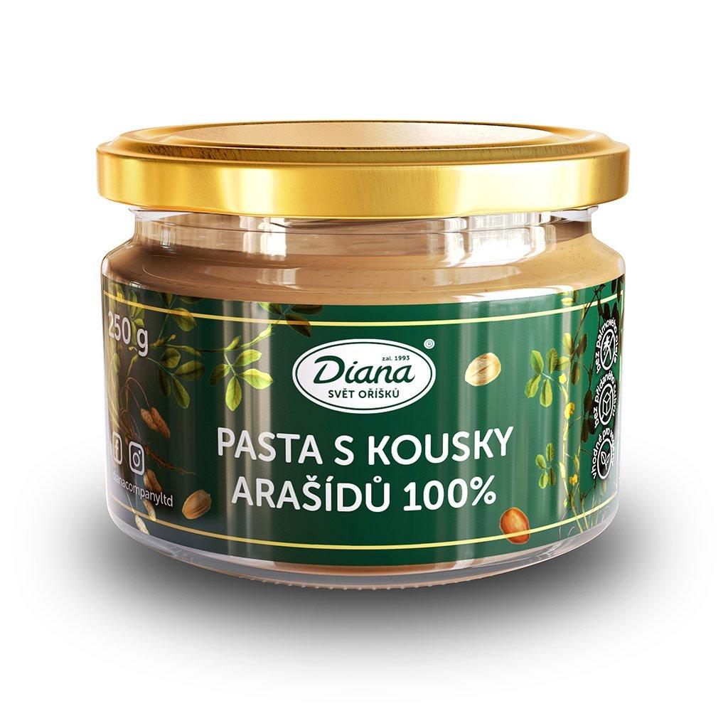 Pasta s kousky arašídů 100% 250g