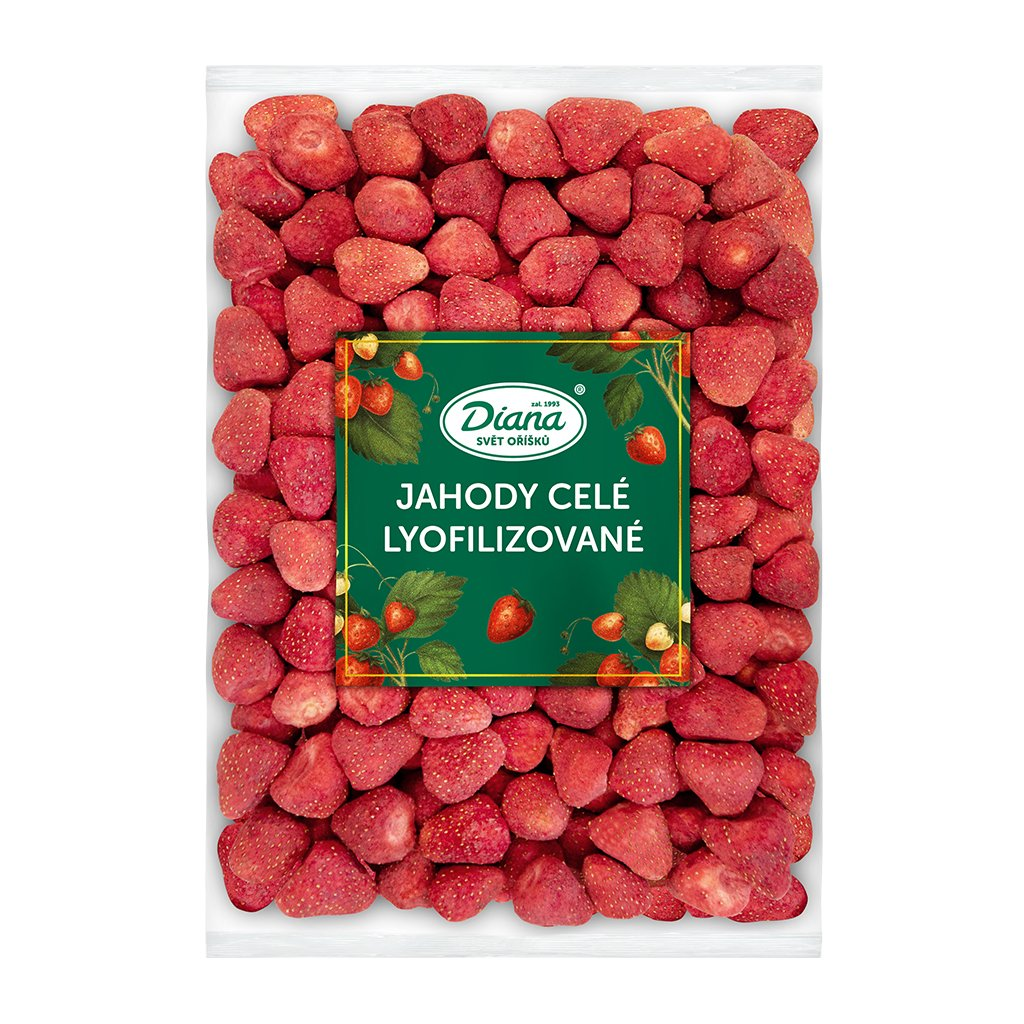 jahody celé lyofilizované