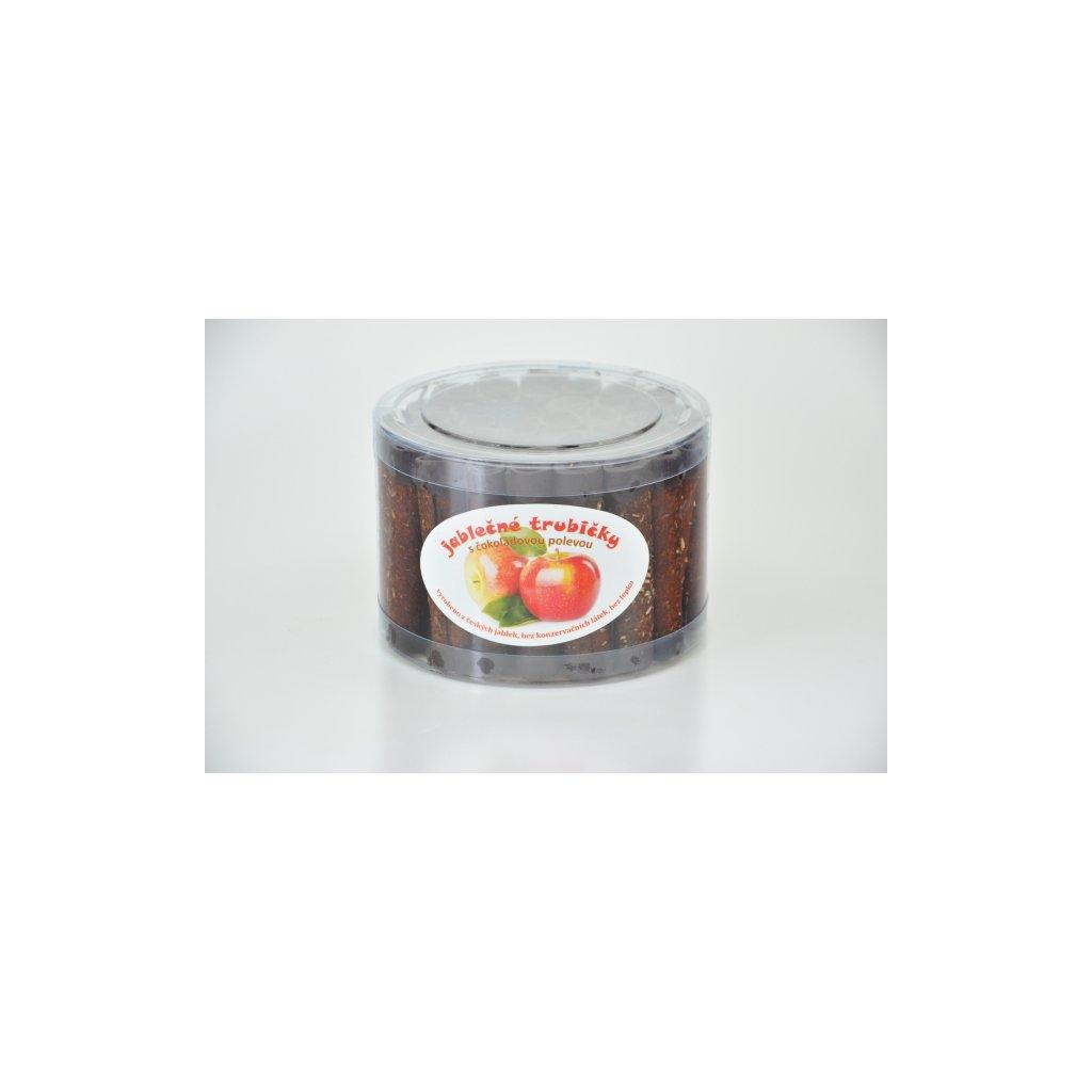 Trutna jablečné trubičky s čokoládovou polevou dóza 450g