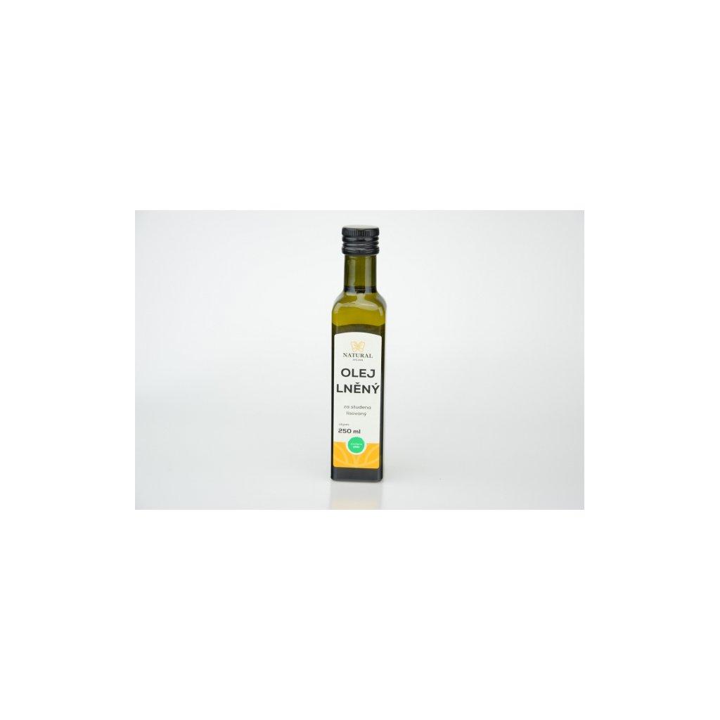 Natural olej lněný za studena lisovaný 250ml