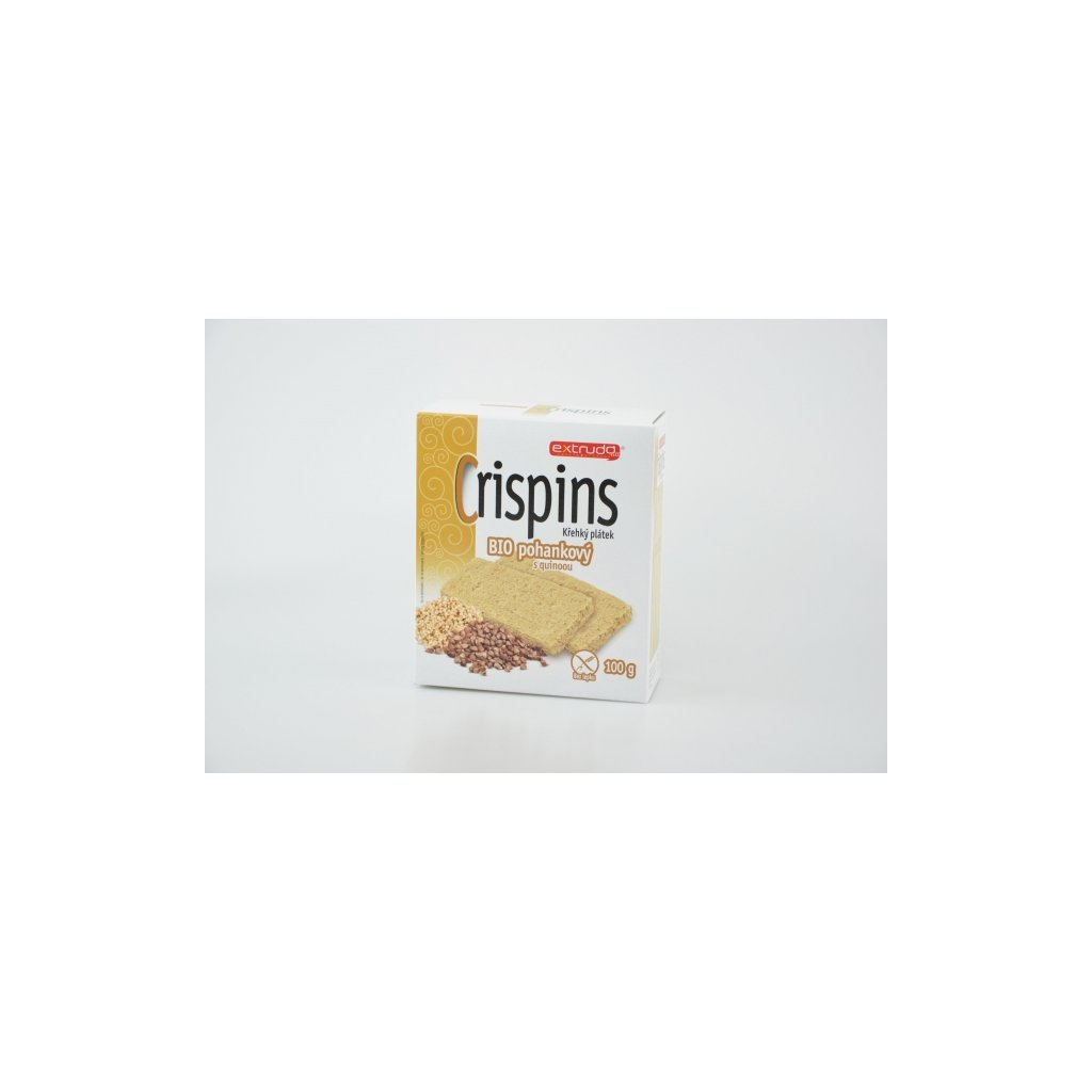 Extrudo crispins BIO křehký plátek pohankový s quinoou 100g