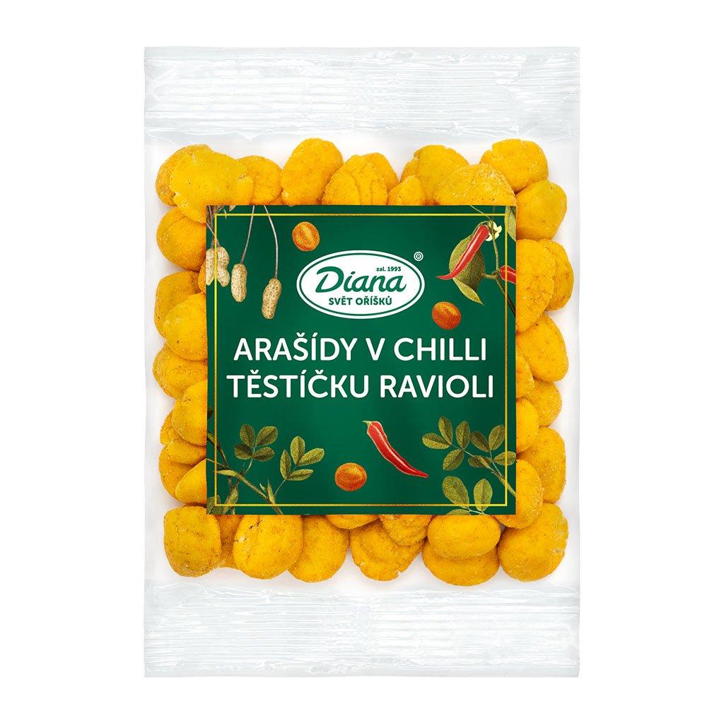 arašídy v chilli těstíčku ravioli 100g diana company