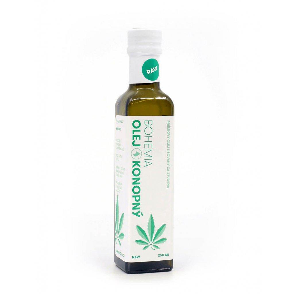 BOHEMIA OLEJ Konopný olej RAW 250 ml