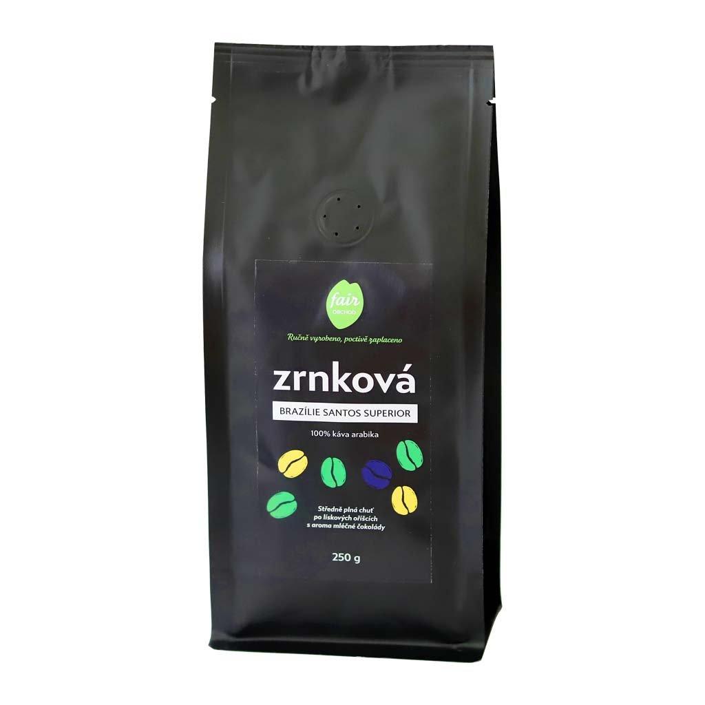 Fair Trade Centrum Zrnková káva Brazílie Santos Superior diana company 250g