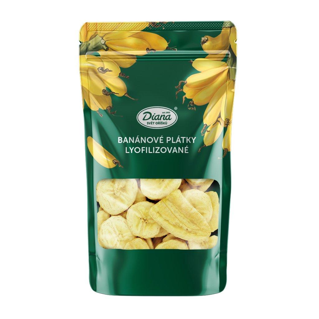 Banánové plátky lyofilizované 55g