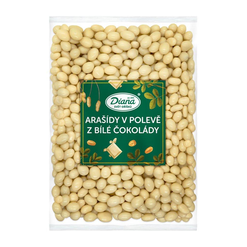 Arašídy v bílé čokoládě