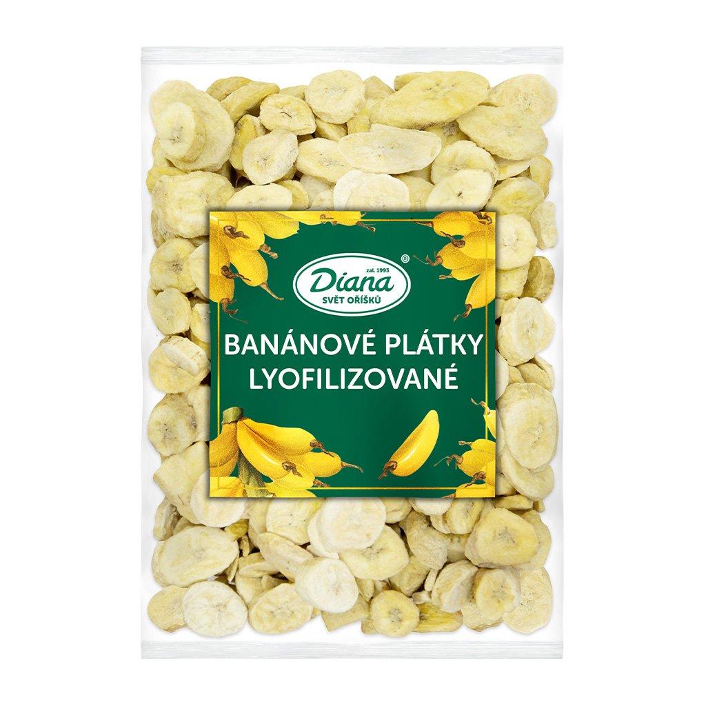 Banánové plátky lyofilizované diana company