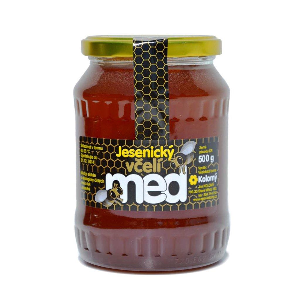 Kolomý med květový malinový 500g