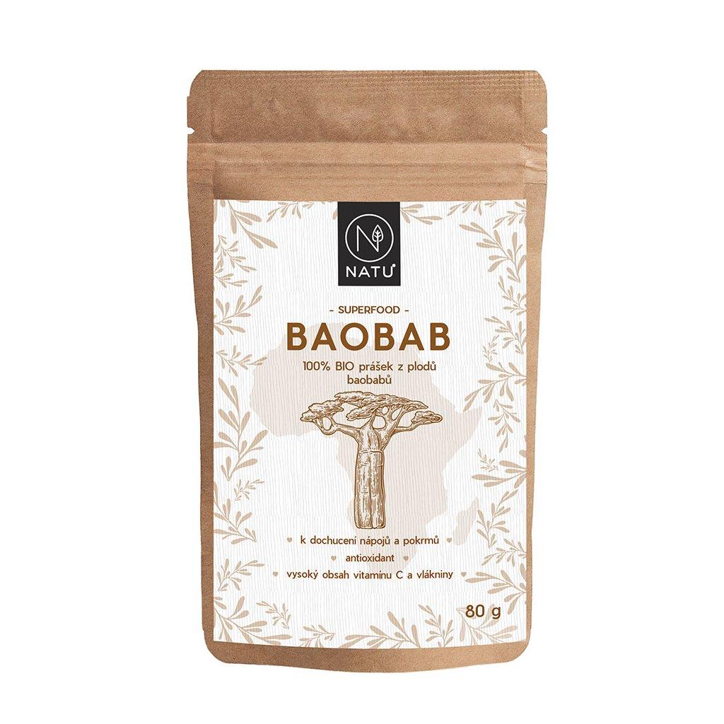 Natu Baobab BIO prášek 80g