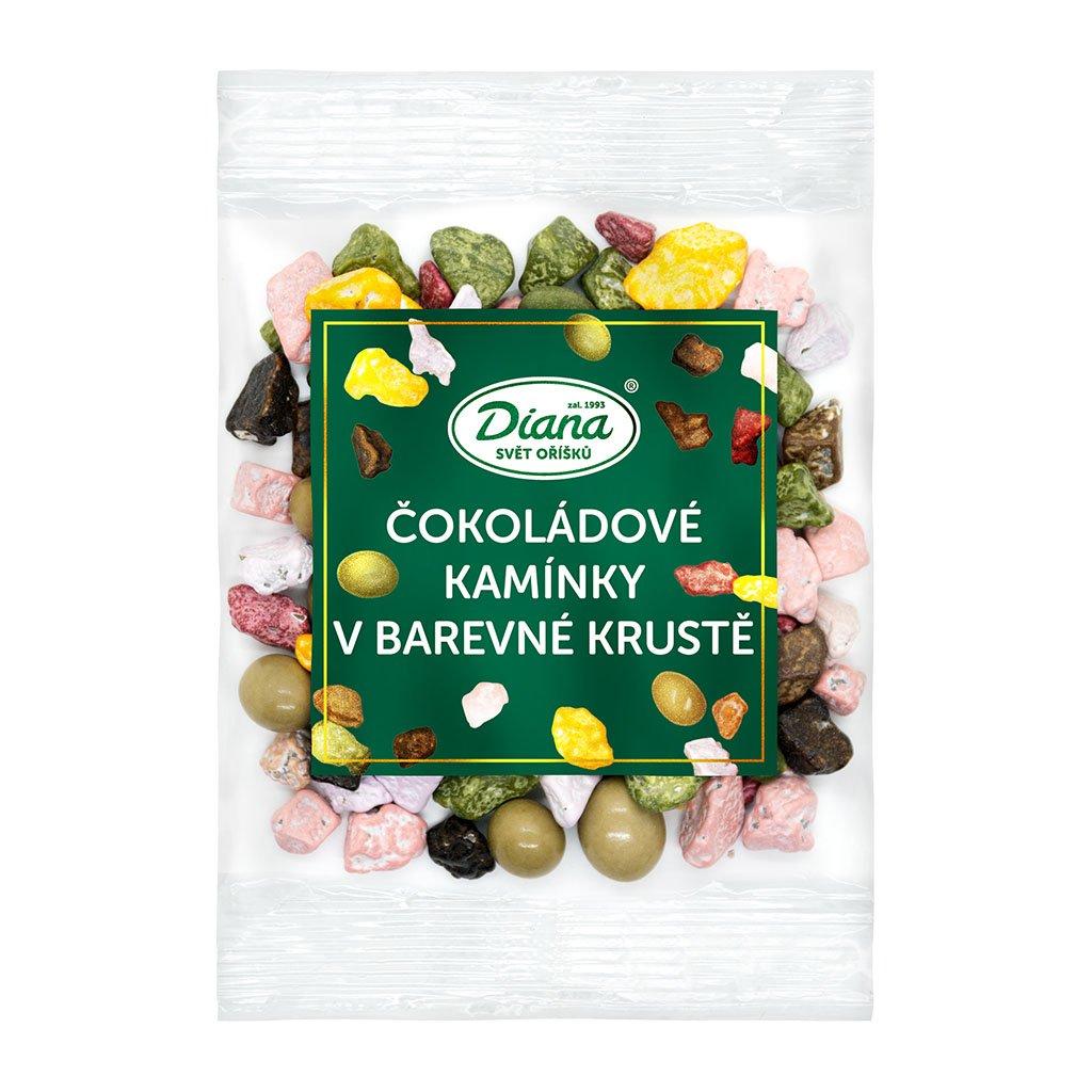 Čokoládové kamínky v barevné krustě 100 g diana company