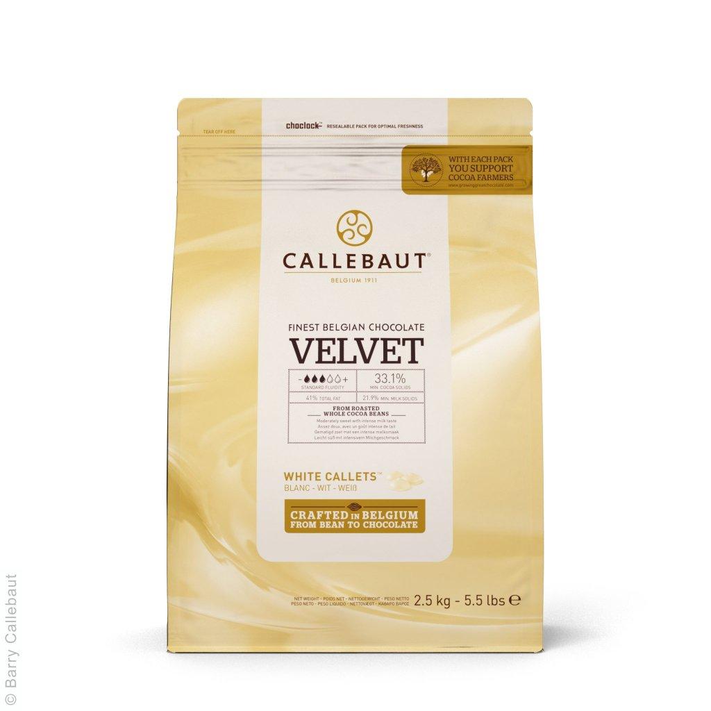 Barry Callebaut Čokoláda bílá Velvet 32% 2,5kg