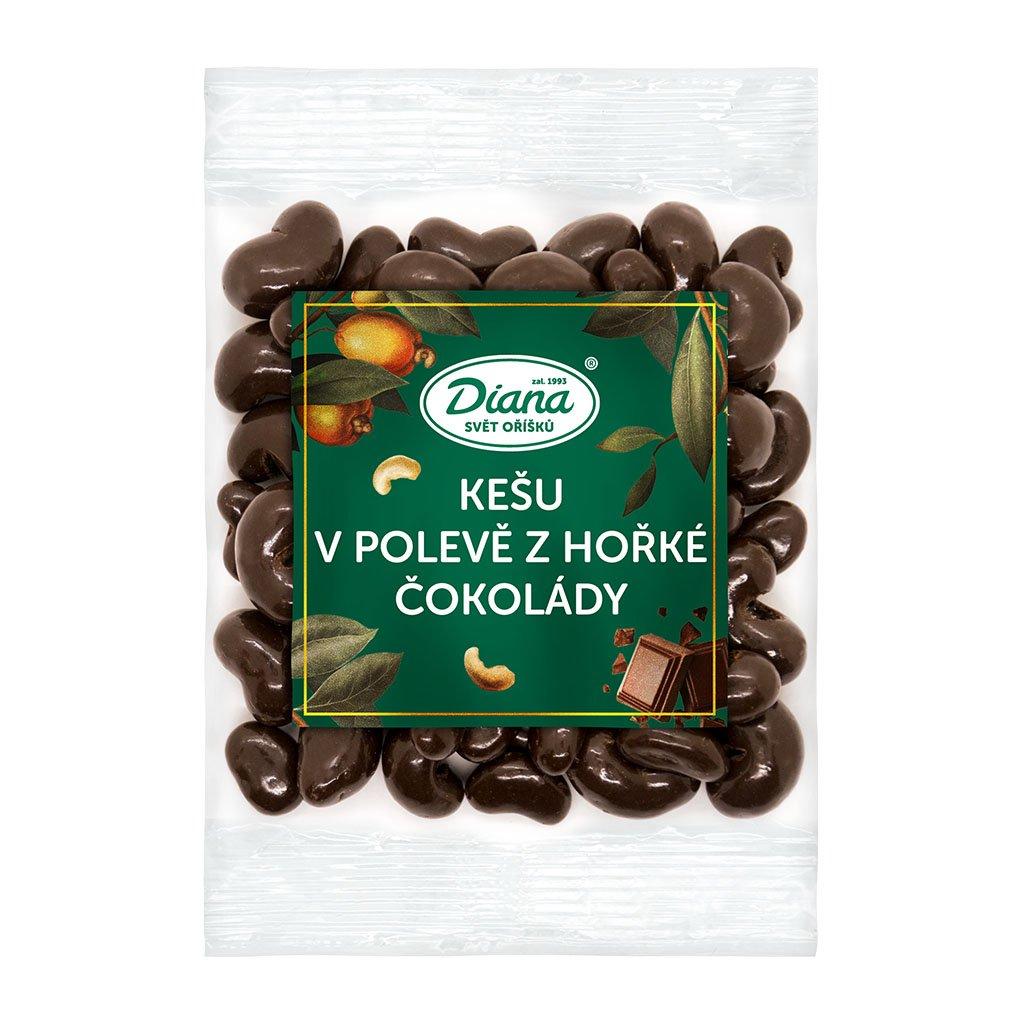 kešu v polevě z hořké čokolády 100g diana company