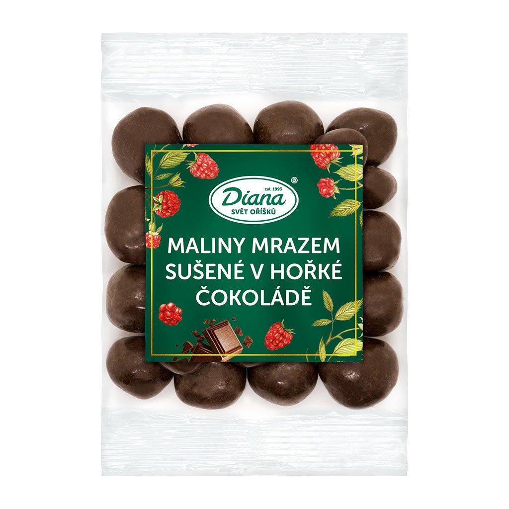 Maliny mrazem sušené v hořké čokoládě