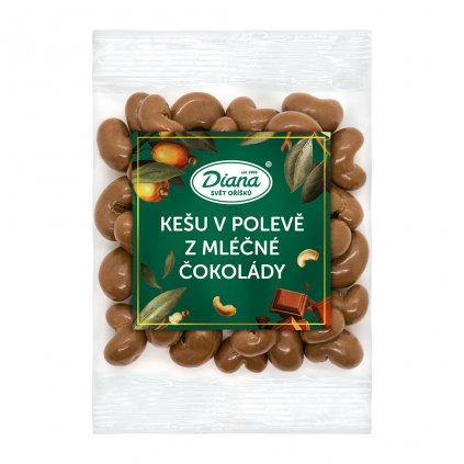 kešu v polevě z mléčné čokolády 100g diana company