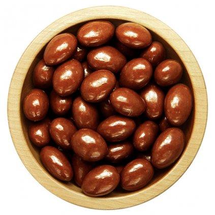 mandle v polevě z mléčné čokolády 100g diana company