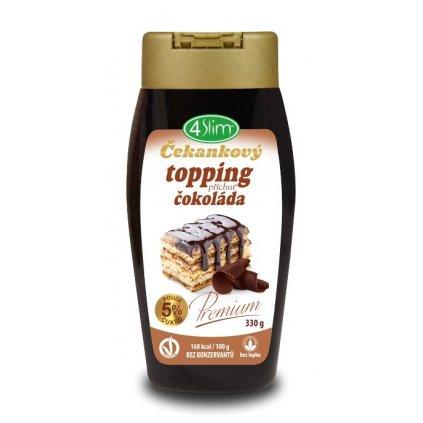 Kaumy Čekankový topping příchuť čokoláda 330g