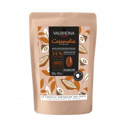Valrhona Feves Čokoláda Caramelia 36% 250g