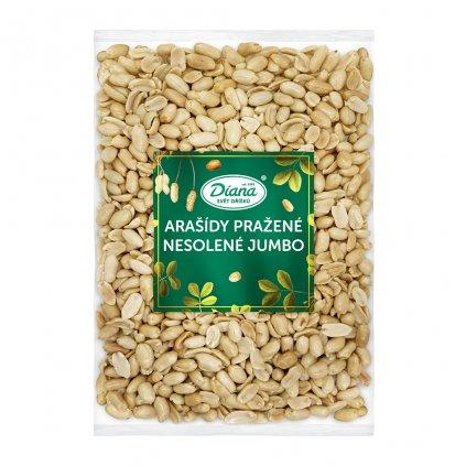 Arašídy pražené nesolené Jumbo 1kg
